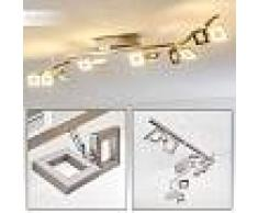 Paul Neuhaus TWINS Lámpara de techo LED Acero inoxidable, 12 luces - 230 Lumen - Moderno/Diseño/vivienda Juvenil - Zona interior - 3000 Kelvin - 3 o 6 días laborables .