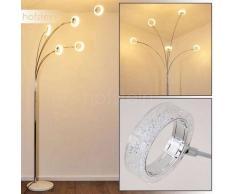 Soppana Lámpara de Pie LED Cromo, 5 luces - - Moderno/Diseño/vivienda Juvenil - Zona interior - - 3 o 6 días laborables .
