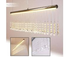 YORK Lámpara colgante LED Cromo, 1 luz - 1000 Lumen - Diseño - Zona interior - 3000 Kelvin - 2 - 4 días laborables .