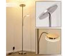 Veteli Lámpara de Pie LED Níquel-mate, Cromo, 2 luces - 2400 Lumen - Moderno/Diseño - Zona interior - 3000 Kelvin - 3 o 6 días laborables .