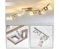 Paul Neuhaus TWINS Lámpara de techo LED Acero inoxidable, 12 luces - 230 Lumen - Moderno/Diseño/vivienda Juvenil - Zona interior - 3000 Kelvin - 4 - 8 días laborables .