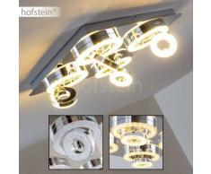 Lakeshore Lámpara de techo LED Cromo, 8 luces - 300/270 Lumen - Moderno - Zona interior - 3000 Kelvin - 2 - 4 días laborables .