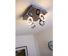 Adel Lámpara de techo LED Cromo, 4 luces - 1280 Lumen - Diseño - Zona interior - 3000 Kelvin - 2 - 4 días laborables .