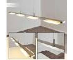 Wofi VERSO Lámpara colgante LED Níquel-mate, 4 luces - 300 Lumen - Moderno/vivienda Juvenil - Zona interior - 3000 Kelvin - 3 o 6 días laborables .