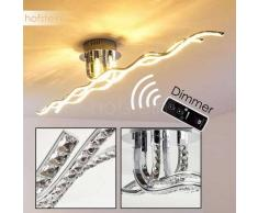 Paulatuk Lámpara de techo LED Cromo, 1 luz - 2400 Lumen - Moderno - Zona interior - 3200 Kelvin - 4 - 8 días laborables .