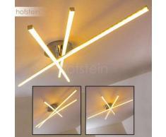 Powassan Lámpara de techo LED Cromo, 3 luces - 2400 Lumen - Diseño - Zona interior - 3000 Kelvin - 4 - 8 días laborables .