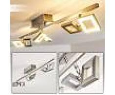 Paul Neuhaus TWINS Lámpara de techo LED Acero inoxidable, 6 luces - 230 Lumen - Moderno/Diseño/vivienda Juvenil - Zona interior - 3000 Kelvin - 3 o 6 días laborables .