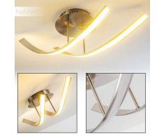 Lámpara de Techo Aranu LED Níquel-mate, 2 luces - 1075 Lumen - Moderno - Zona interior - 3000 Kelvin - 2 - 4 días laborables .