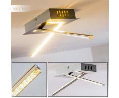 Jatuni Lámpara de Techo LED Níquel-mate, 1 luz - 1020 Lumen - Moderno - Zona interior - 3000 Kelvin - 4 - 8 días laborables .