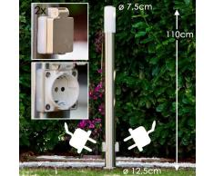Caserta Lámpara de pie para exterior Acero inoxidable, 1 luz - - - Zona exterior - - 4 - 8 días laborables .