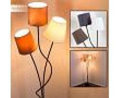 FLIN Lámpara de Pie Negro, 3 luces - - Diseño - Zona interior - - 3 o 6 días laborables .