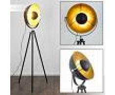 Maloy Lámpara de Pie Cromo, Negro, 1 luz - - Moderno/Diseño - Zona interior - - 6 o 10 días laborables .