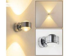 INDORE Aplique LED Cromo, 2 luces - 600 Lumen - Moderno - Zona exterior - 3000 Kelvin - 2 - 4 días laborables .