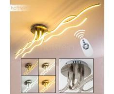 BORNITE Lámpara de Techo LED Níquel-mate, 1 luz - 3200 Lumen - Moderno - Zona interior - 3000/6000 Kelvin - 2 - 4 días laborables .