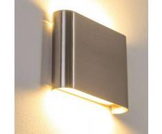 Galindo Aplique LED Acero bruñido, 1 luz - 500 Lumen - Moderno/Diseño - Zona interior - 3000 Kelvin - 2 - 4 días laborables .