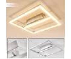 Paul Neuhaus INIGO Lámpara de techo LED Acero inoxidable, 1 luz - 1920 Lumen - Moderno/Diseño/vivienda Juvenil - Zona interior - 3000 Kelvin - 3 o 6 días laborables .