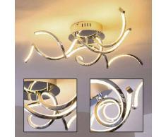 Moskau Lámpara de techo LED Cromo, 3 luces - 2400 Lumen - Diseño - Zona interior - 3000 Kelvin - 4 - 8 días laborables .
