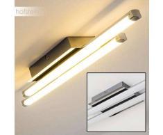 ISKUT Lámpara de Techo LED Cromo, 2 luces - 800 Lumen - Moderno - Zona interior - 3000 Kelvin - 4 - 8 días laborables .