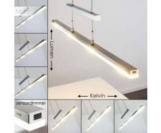 Lámpara Colgante Bredbyn LED Níquel-mate, 4 luces - 1600 Lumen - Moderno - Zona interior - 2700-4000 Kelvin - 4 - 8 días laborables .