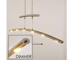 Sanza Lámpara colgante LED Níquel-mate, 6 luces - 2200 Lumen - Moderno - Zona interior - 3000 Kelvin - 2 - 4 días laborables .