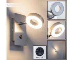 Renfrew Aplique LED Acero bruñido, 1 luz - 400 Lumen - Diseño - Zona interior - 3000 Kelvin - 4 - 8 días laborables .