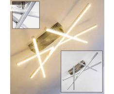 F.L.I. Lámpara de techo LED Níquel-mate, Aluminio, 1 luz - 1275 Lumen - Diseño - Zona interior - 3000 Kelvin - 4 - 8 días laborables .