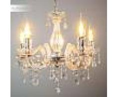 Edson Lámpara de araña Cromo, 5 luces - - Clásico - Zona interior - - 6 o 10 días laborables .