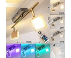 Ritsem Lámpara de Techo LED Níquel-mate, Cromo, 2 luces - 600 Lumen - Moderno - Zona interior - 3000/RGB Kelvin - 4 - 8 días laborables .