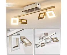 Paul Neuhaus TWINS Lámpara de techo LED Acero inoxidable, 4 luces - 230 Lumen - Moderno/Diseño/vivienda Juvenil - Zona interior - 3000 Kelvin - 6 o 10 días laborables .
