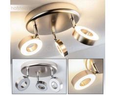 Habo Lámpara de Techo LED Níquel-mate, 3 luces - 1200 Lumen - Moderno - Zona interior - 3000 Kelvin - 4 - 8 días laborables .
