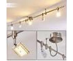 Tulstrup Barra de focos LED Níquel-mate, 5 luces - 1600 Lumen - Diseño - Zona interior - 3000 Kelvin - 3 o 6 días laborables .