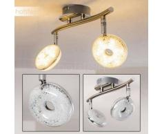 Donot Lámpara de Techo LED Níquel-mate, 2 luces - 1200 Lumen - Diseño - Zona interior - 3000 Kelvin - 4 - 8 días laborables .
