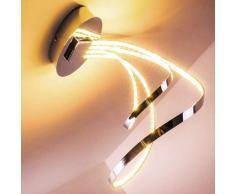 Sepino Lámpara de techo LED Cromo, 1 luz - 1600 Lumen - Diseño/vivienda Juvenil - Zona interior - 3000 Kelvin - 4 - 8 días laborables .