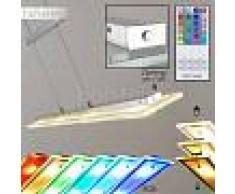 Killarney Lámpara colgante LED Níquel-mate, Cromo, 4 luces - 1870 Lumen - Moderno/Diseño - Zona interior - 3000/RGB Kelvin - 6 o 10 días laborables .