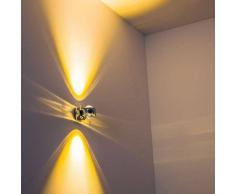 Rio Aplique LED Cromo, 2 luces - 240 Lumen - Diseño - Zona interior - 3000 Kelvin - 2 - 4 días laborables .