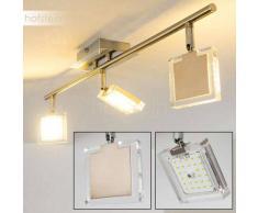 Kiruna Lámpara de Techo LED Níquel-mate, Cromo, 3 luces - 1260 Lumen - Moderno - Zona interior - 3000 Kelvin - 4 - 8 días laborables .
