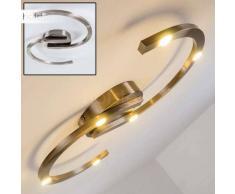 Pringle Lámpara de techo LED Níquel-mate, 6 luces - 1800 Lumen - Diseño - Zona interior - 3000 Kelvin - 4 - 8 días laborables .