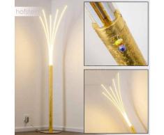 Lokken Lámpara de Pie LED dorado, 1 luz - 1680 Lumen - Moderno/Diseño - Zona interior - 3000 Kelvin - 2 - 4 días laborables .