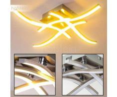 Nanaimo Lámpara de techo LED Níquel-mate, 4 luces - 1280 Lumen - Diseño - Zona interior - 3000 Kelvin - 4 - 8 días laborables .