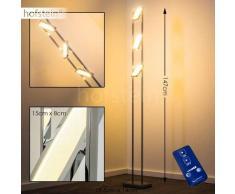 Howley Lámpara de pie LED Cromo, 3 luces - 1200 Lumen - Diseño - Zona interior - 3000 Kelvin - 2 - 3 semanas .