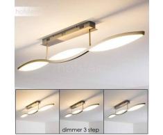Brenna Lámpara de Techo LED Níquel-mate, 3 luces - 2650 Lumen - Moderno - Zona interior - 3000 Kelvin - 2 - 4 días laborables .