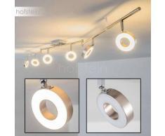 Hope Lámpara de techo LED Níquel-mate, Cromo, 6 luces - 2400 Lumen - Diseño - Zona interior - 3000 Kelvin - 2 - 4 días laborables .