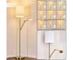 Parpan Lámpara de Pie LED dorado, 2 luces - 3640 Lumen - Clásico/Vintage/Loft - Zona interior - 4000 Kelvin - 6 o 10 días laborables .