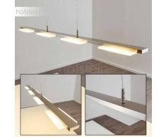 Wofi VERSO Lámpara colgante LED Níquel-mate, 4 luces - 300 Lumen - Moderno/vivienda Juvenil - Zona interior - 3000 Kelvin - 4 - 8 días laborables .