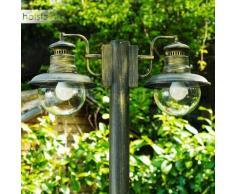 Brilliant Artu Lámpara de pie para exterior Negro, dorado, 2 luces - - Rural - Zona exterior - - 4 - 8 días laborables .