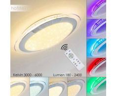 Vittangi Lámpara de Techo LED Cromo, 1 luz - 180/2400 Lumen - Diseño - Zona interior - RGB/3000 - 5500 Kelvin - 2 - 4 días laborables .