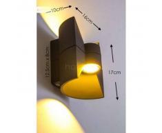 San Jose Aplique para exterior LED Antracita, 2 luces - 180/360 Lumen - Diseño - Zona exterior - 3000 Kelvin - 2 - 4 días laborables .