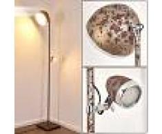 Gerlikon Lámpara de Pie LED Color óxido, 2 luces - 1100 Lumen - Vintage/Rústico - Zona interior - 3000 Kelvin - 3 o 6 días laborables .