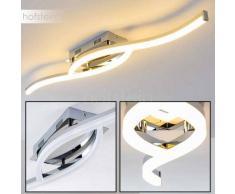 Kanata Lámpara de techo LED Cromo, 1 luz - 1215 Lumen - Diseño - Zona interior - 3000 Kelvin - 2 - 4 días laborables .