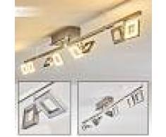 Paul Neuhaus TWINS Lámpara de techo LED Acero inoxidable, 8 luces - 230 Lumen - Moderno/Diseño/vivienda Juvenil - Zona interior - 3000 Kelvin - 3 o 6 días laborables .